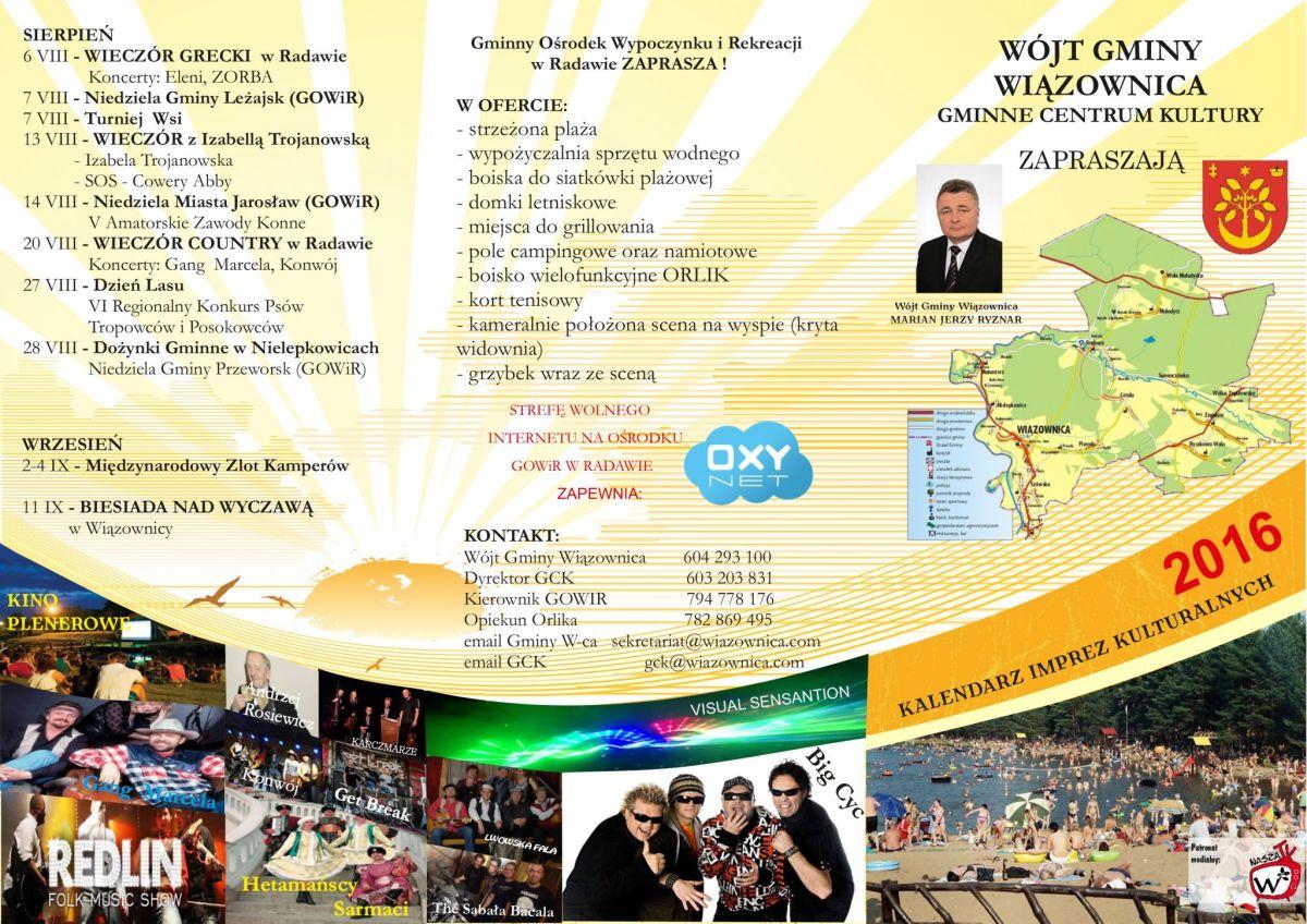 Radawa - Kalendarz Imprez Kulturalnych na 2016 rok