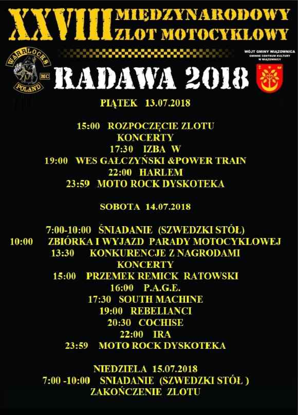 Program Zlotu Radawa 2018